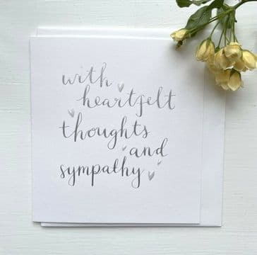 Just Lovely! 'With Heartfelt Thoughts & Sympathy Greeting Card